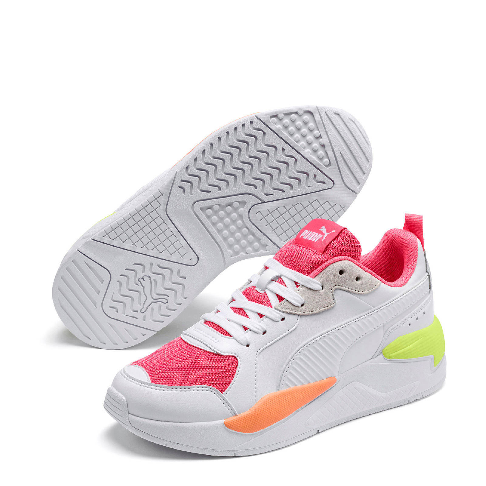 Puma X-Ray Game sneakers wit/roze/geel   wehkamp