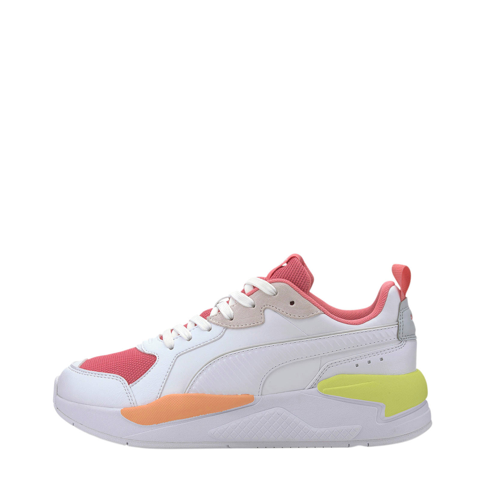 Puma X-Ray Game sneakers wit/roze/geel | wehkamp