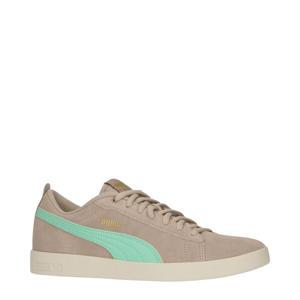 Smash V2  suède sneakers taupe/mintgroen