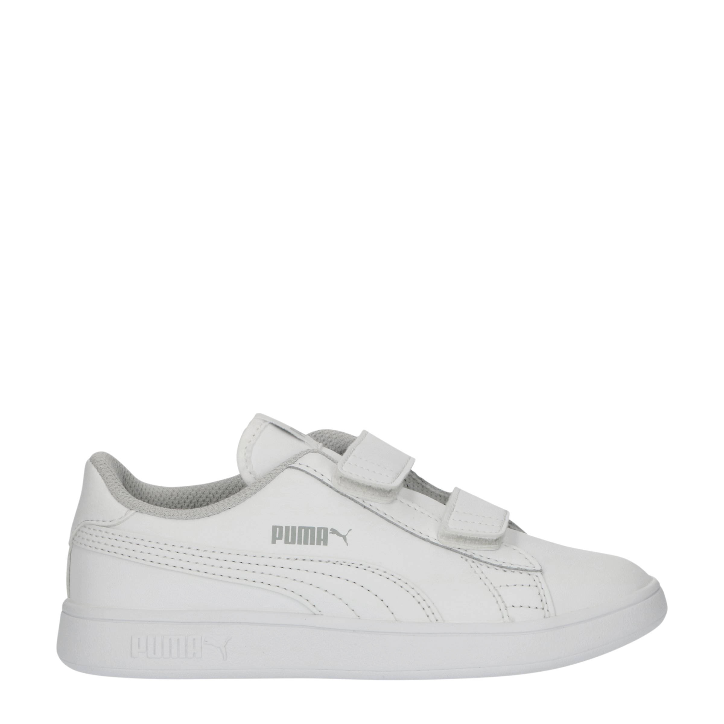 Smash v2 L V PS leren sneakers wit