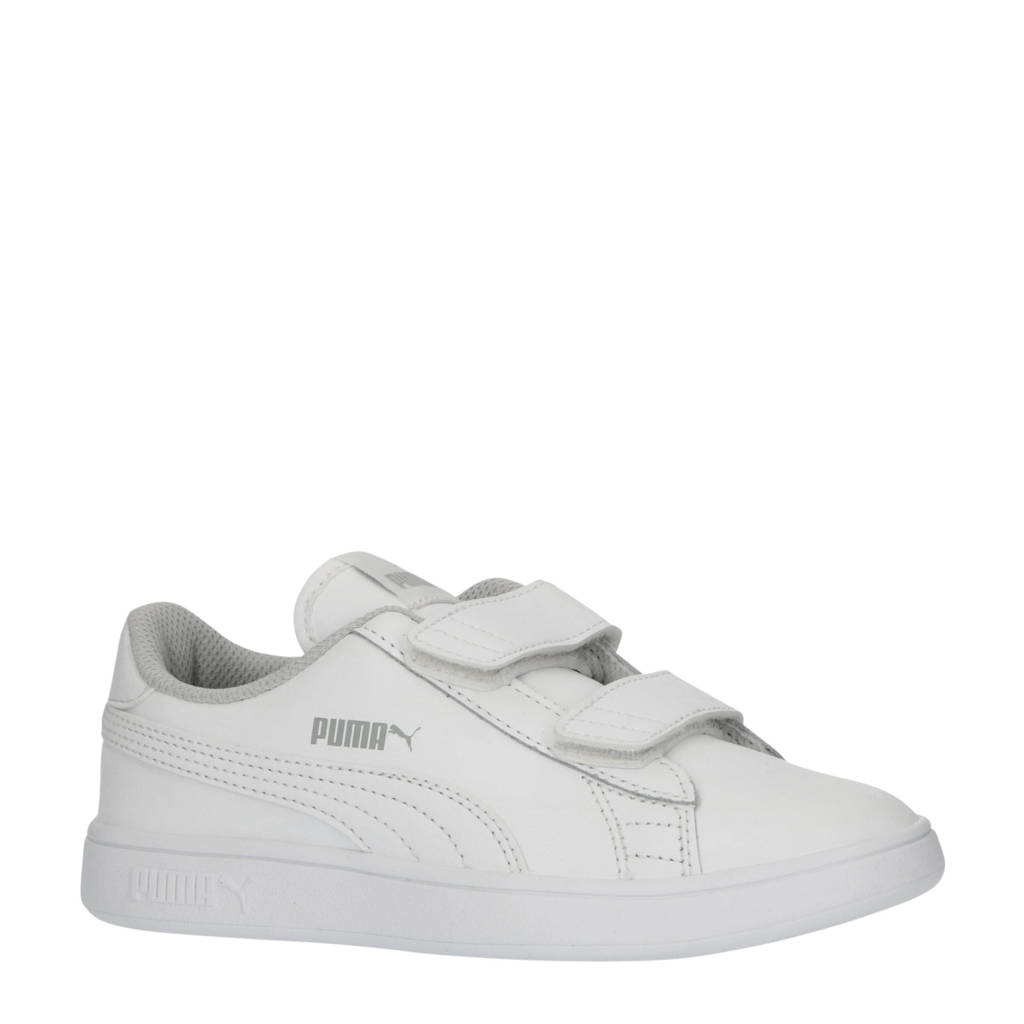 Puma Smash v2 L V PS leren sneakers wit, Wit