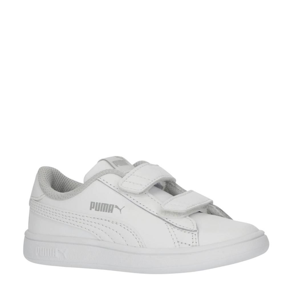 Puma Smash v2 L V Inf leren sneakers wit, Wit