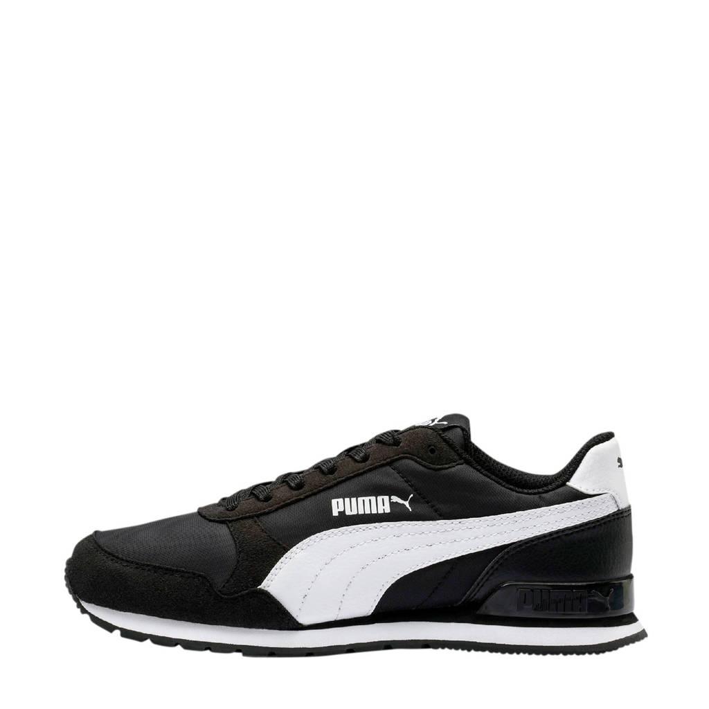 Puma ST Runner v2  sneakers zwart/wit, Zwart