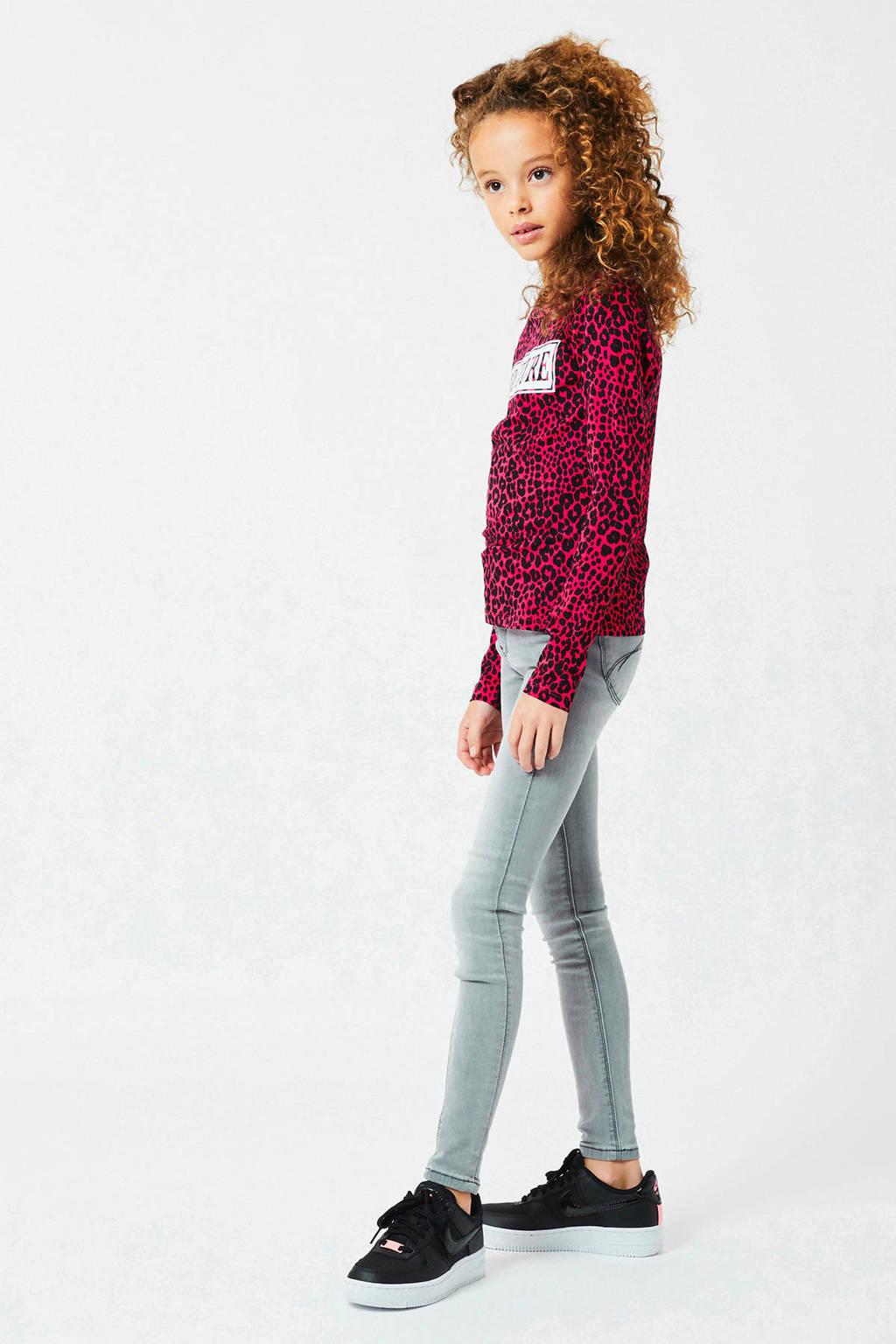 CoolCat Junior skinny jeans Kate lichtgrijs stonewashed, Lichtgrijs stonewashed