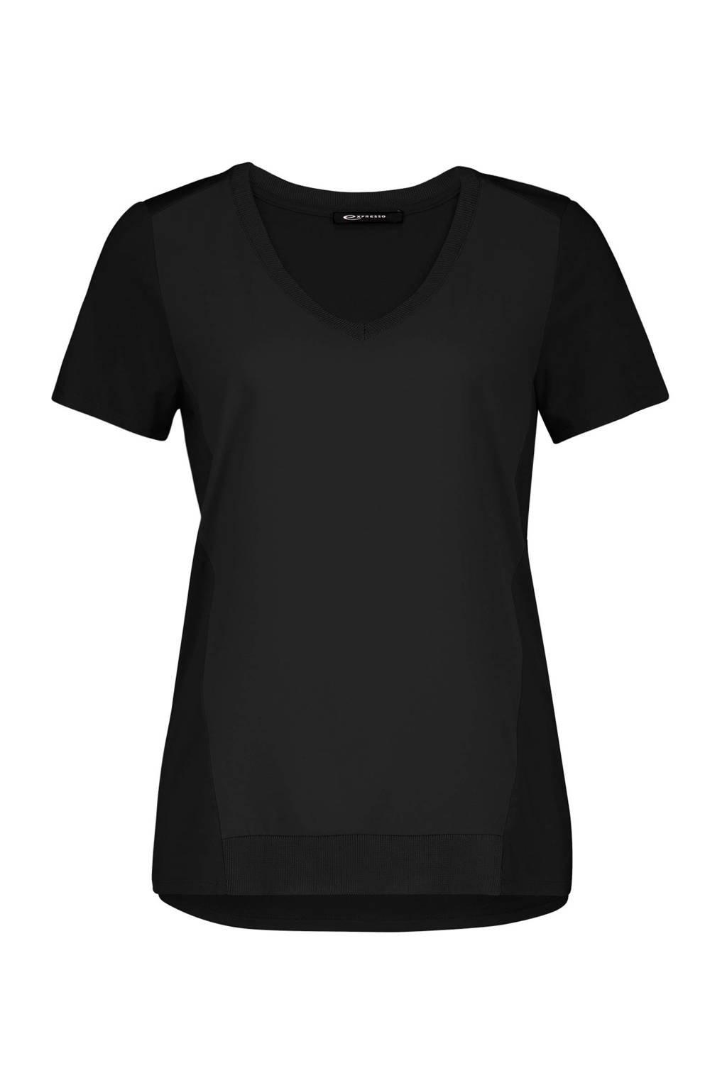 Expresso top zwart, Zwart
