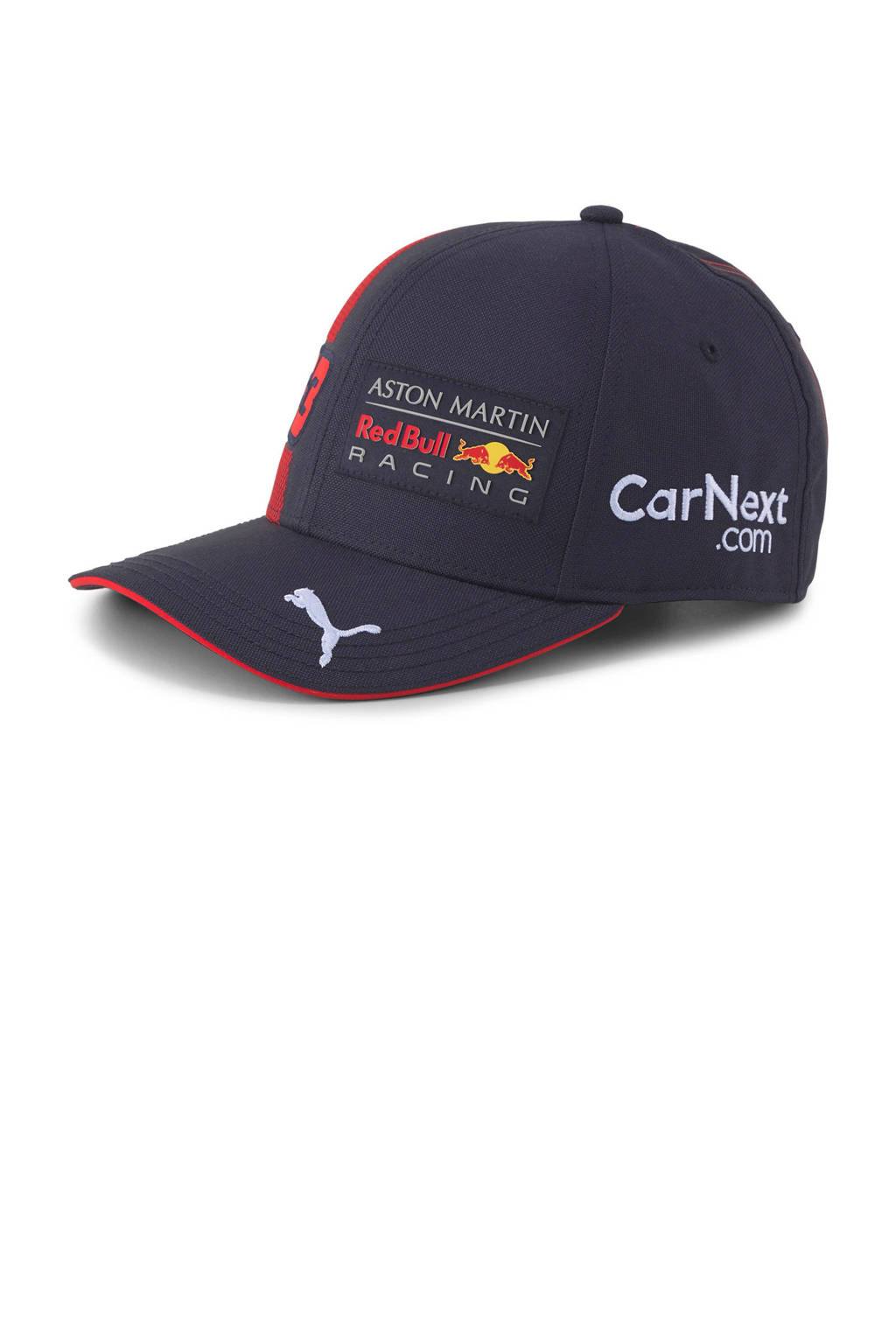 Puma Red Bull Racing Max Verstappen pet Curved Youth, Donkerblauw/rood