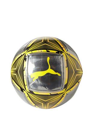 voetbal zilver/geel maat 5