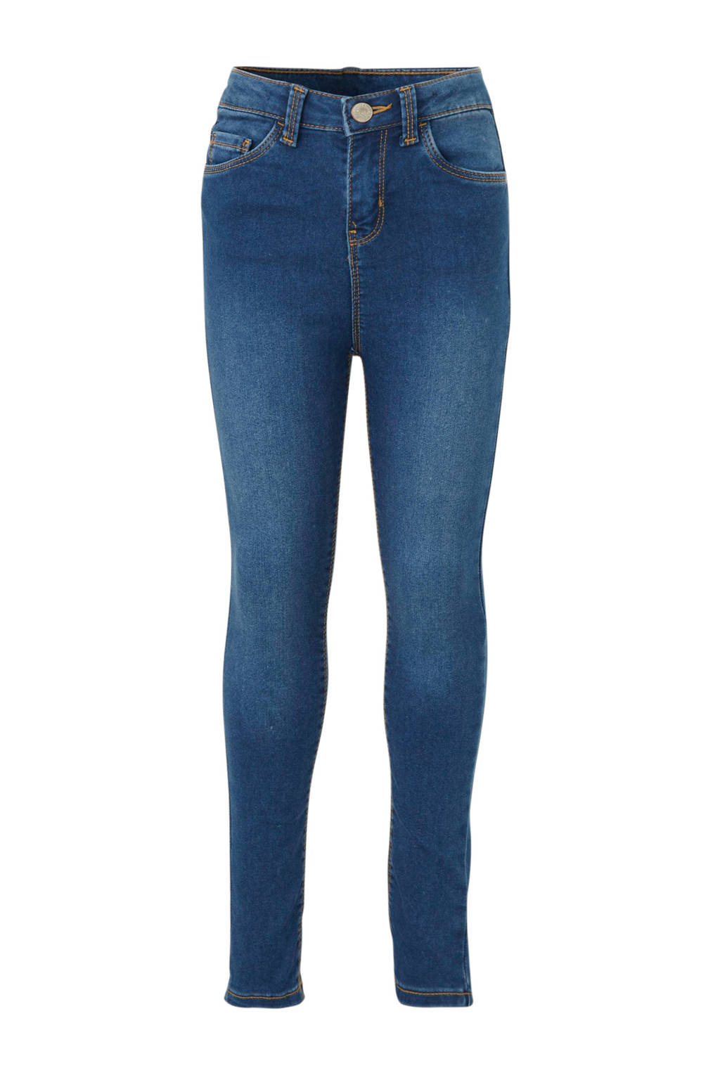 C&A Here & There skinny jeans blauw 34 inch, Blauw