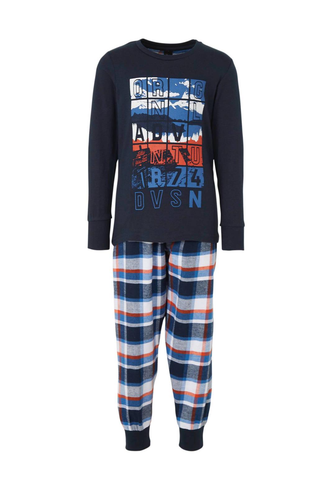 C&A   pyjama printopdruk donkerblauw, Donkerblauw