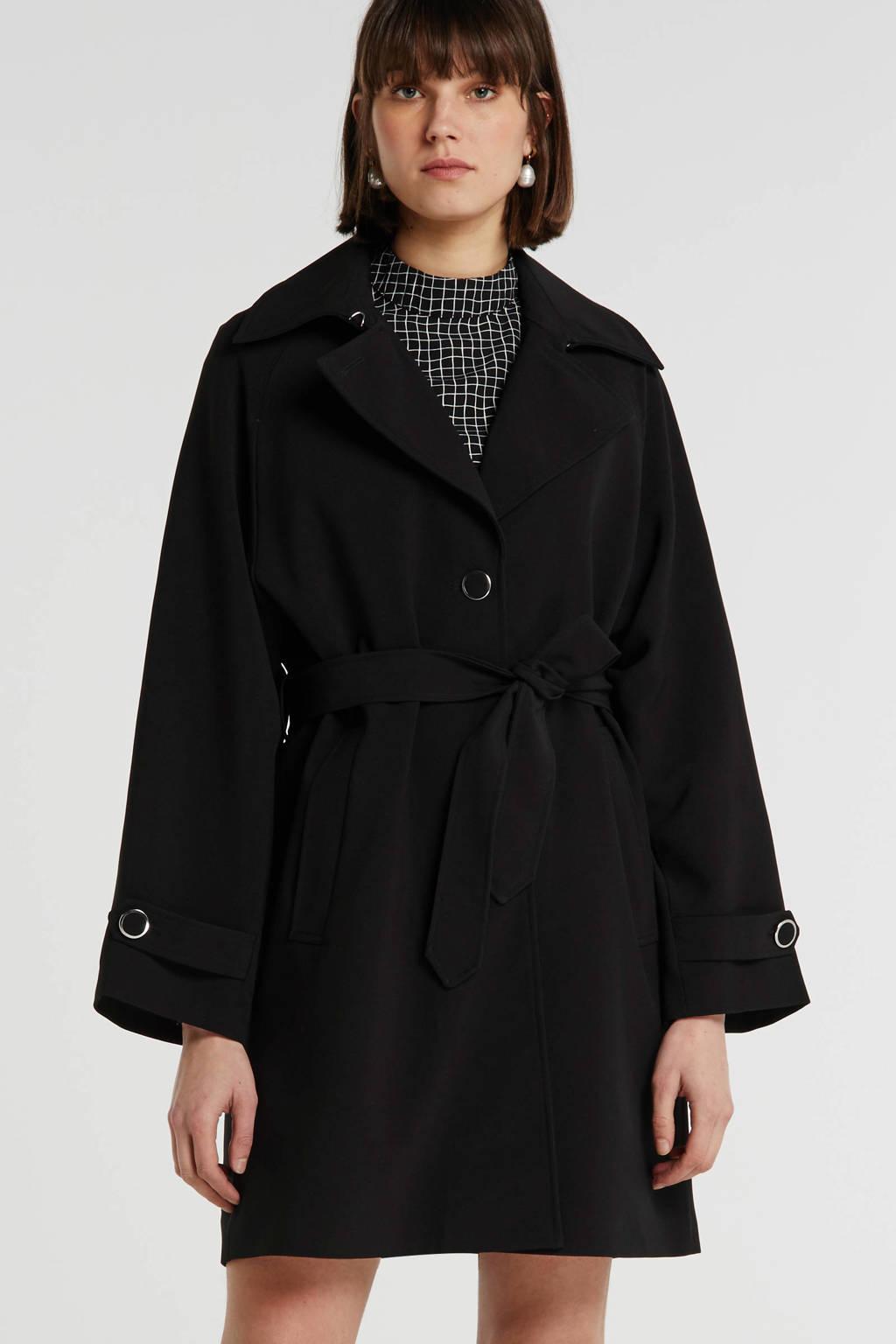VILA coat zwart, Zwart