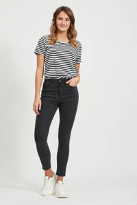 VILA high waist skinny jeans zwart, Zwart