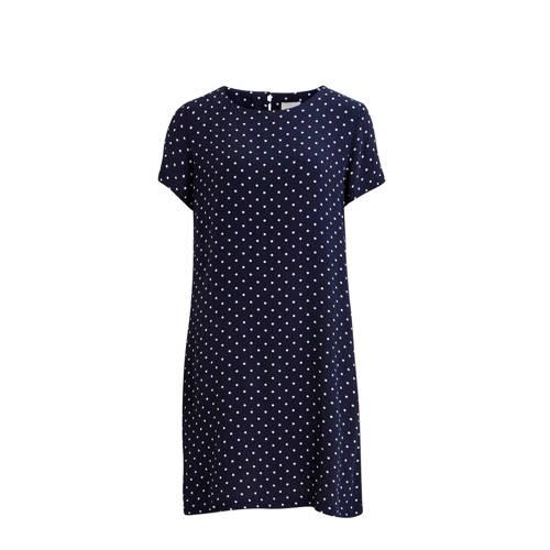 VILA gestipte jurk donkerblauw
