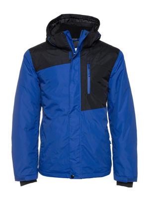 ski-jack kobaltblauw/zwart