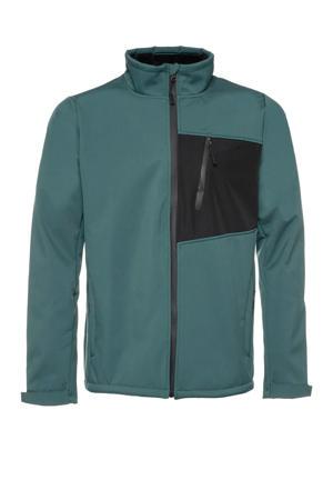 softshell jas groen/zwart