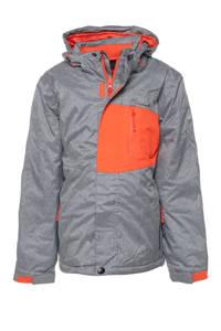 Mountain Peak ski-jack grijs/oranje, Grijs