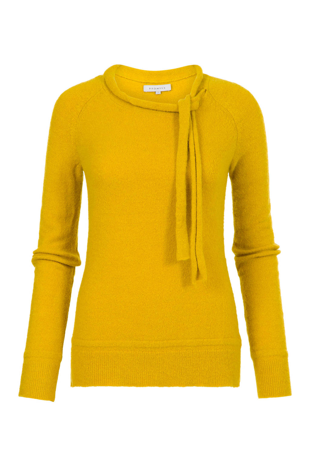 PROMISS fijngebreide trui Kavy geel, Geel