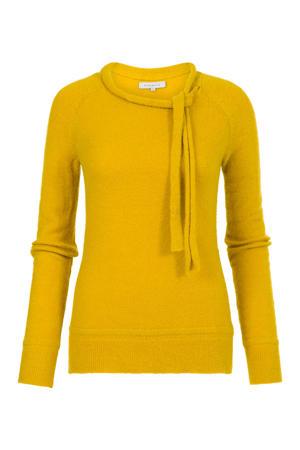 fijngebreide trui Kavy geel