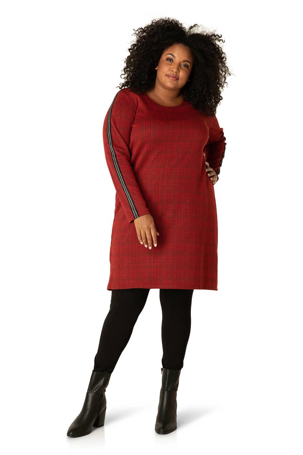 IVY BELLA BY BELLA geruite jurk rood/multi, Rood/multi