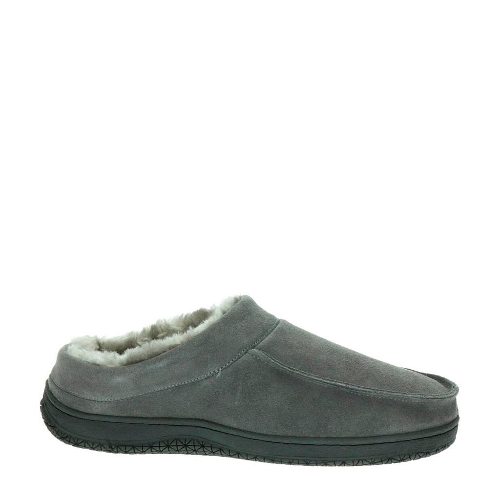 Alpacas suède pantoffels grijs, Grijs