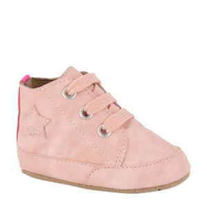 leren babyschoenen roze