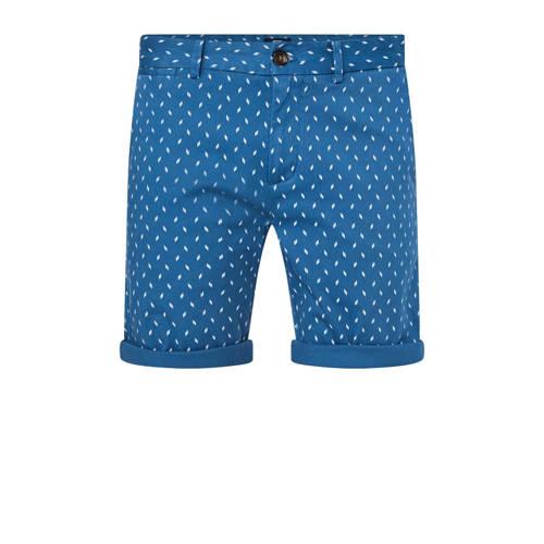 WE Fashion slim fit bermuda blauw