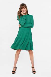 WE Fashion jurk met volant groen, Groen