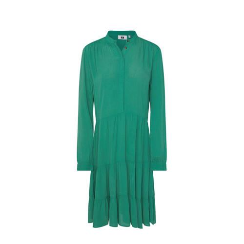 WE Fashion jurk met volant groen