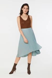 WE Fashion plissé rok lichtblauw, Lichtblauw