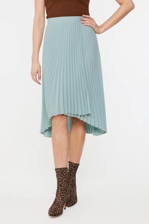 plissé rok lichtblauw