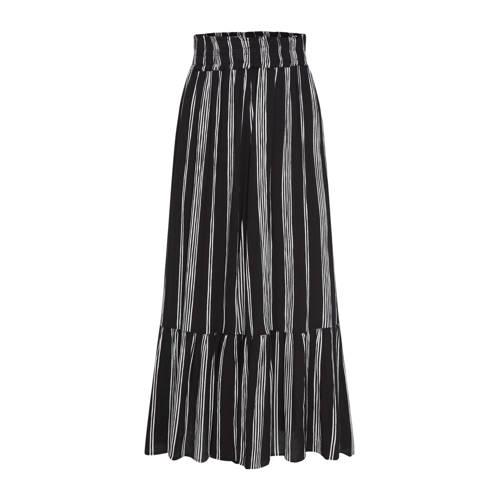 WE Fashion gestreepte rok zwart/wit