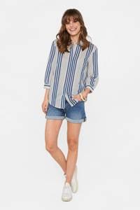 WE Fashion gestreepte blouse blauw/grijs, Blauw/grijs