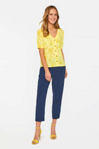 WE Fashion top met all over print geel, Geel