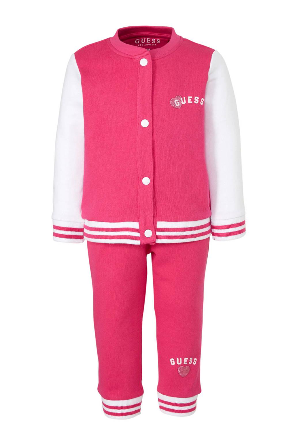 GUESS vest + broek, Roze/wit