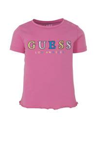 GUESS T-shirt met logo roze, Roze