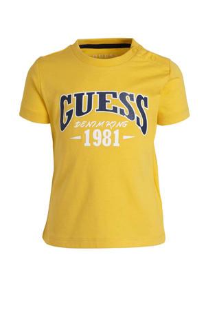 T-shirt met logo geel