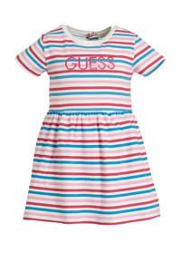GUESS gestreepte baby jurk met broekje roze/wit, Roze/wit/blauw