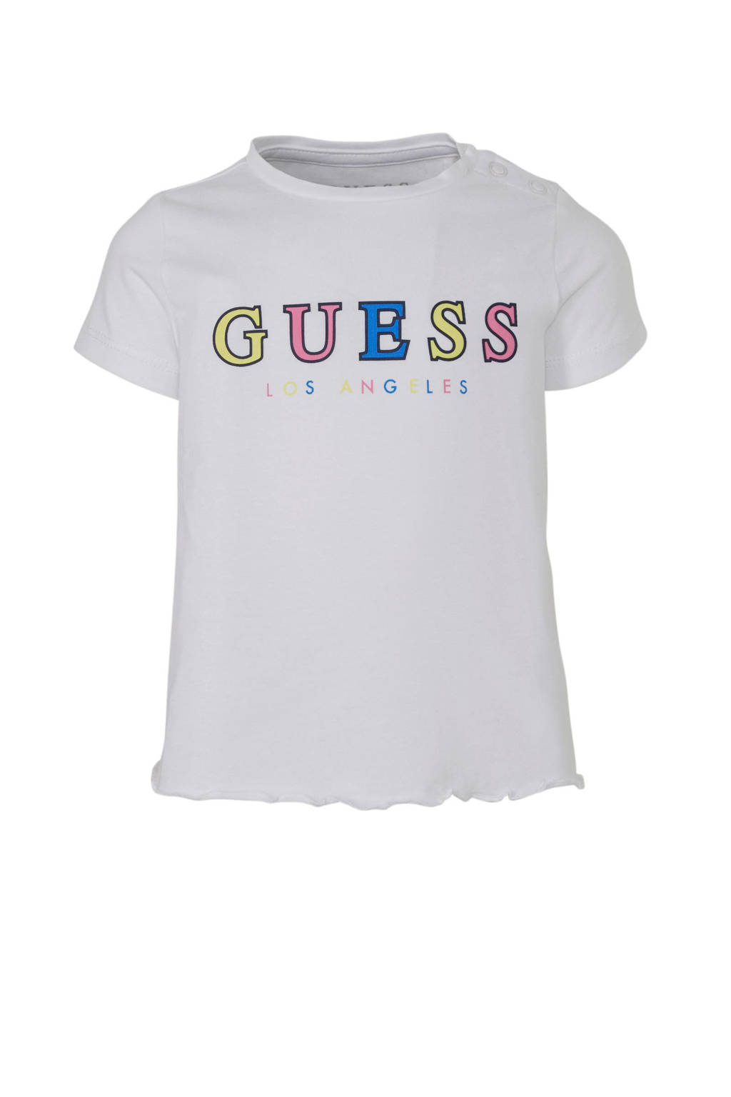 GUESS T-shirt met logo wit, Wit