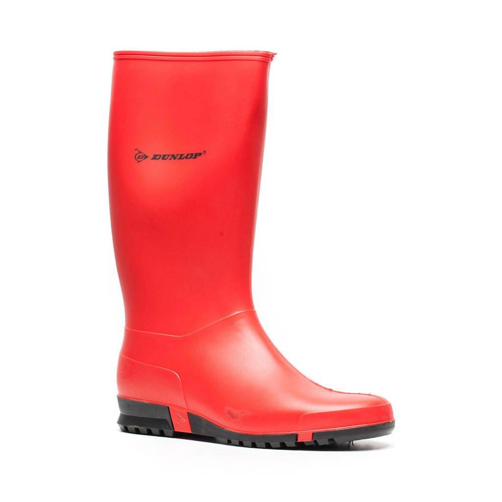 Dunlop   regenlaarzen rood, Rood/zwart