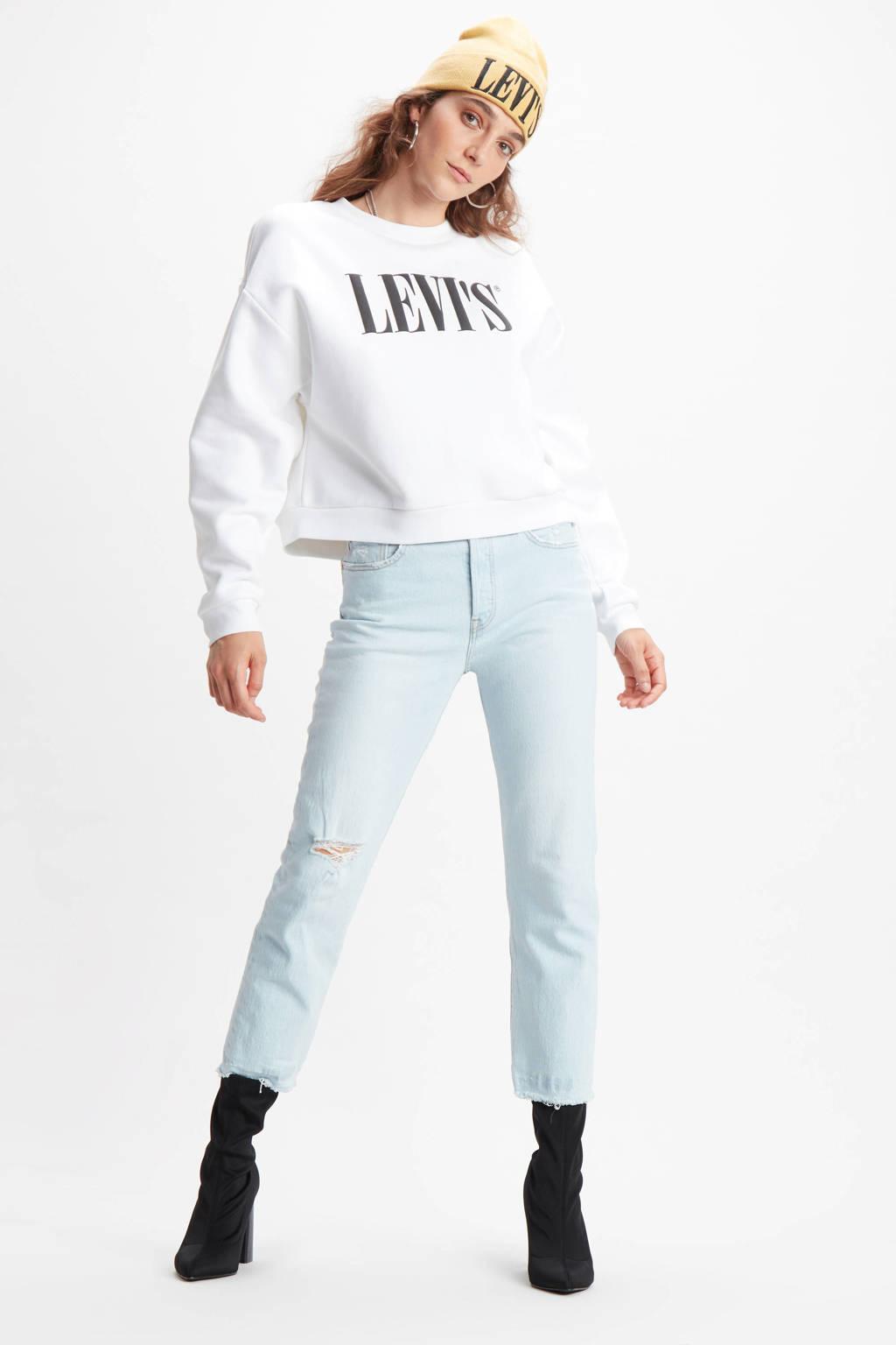 Levi's sweater met logo wit, Wit
