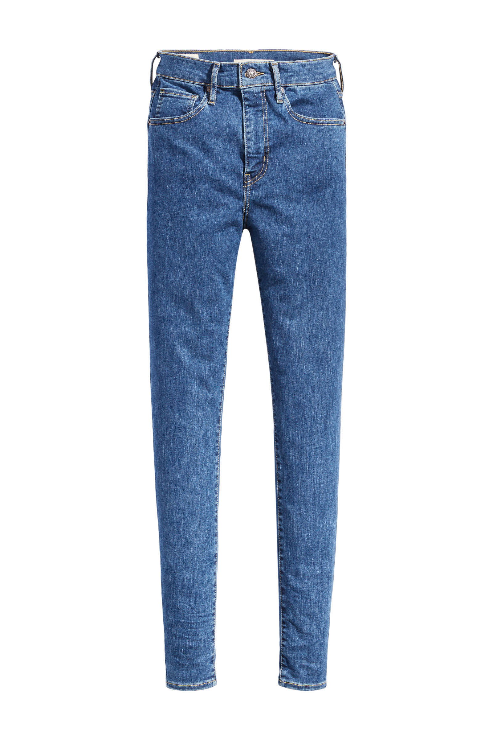 Mile high waist skinny jeans blauw