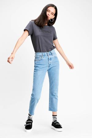 501 crop  cropped high waist mom jeans blauw