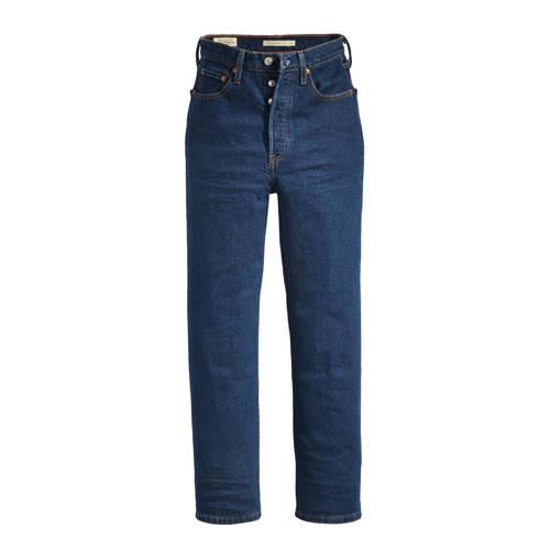 Levi's high waist cropped mom ribcage jeans dark denim
