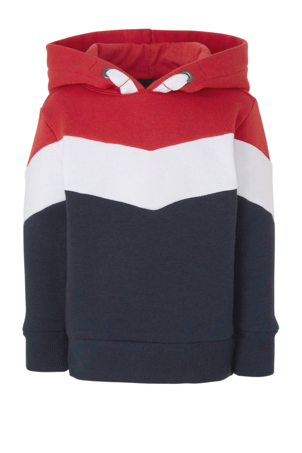 C&A Palomino hoodie donkerblauw/wit/rood, Donkerblauw/wit/rood