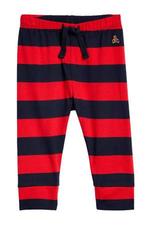 gestreepte broek Brannan Bear rood/donkerblauw