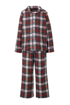pyjama met ruit patroon rood/wit/donkerblauw