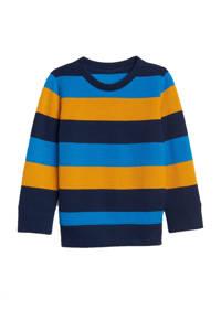 GAP gestreepte sweater blauw/oker/donkerblauw, Blauw/oker/donkerblauw