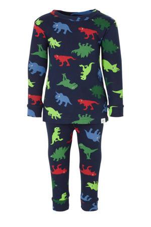 pyjamabroek en longsleeve donkerblauw dino's