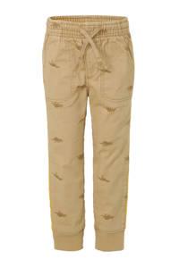 GAP slim fit broek met all over print bruin, Bruin