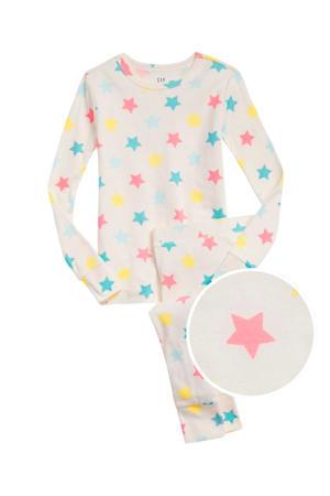 pyjama met sterren wit/blauw/roze