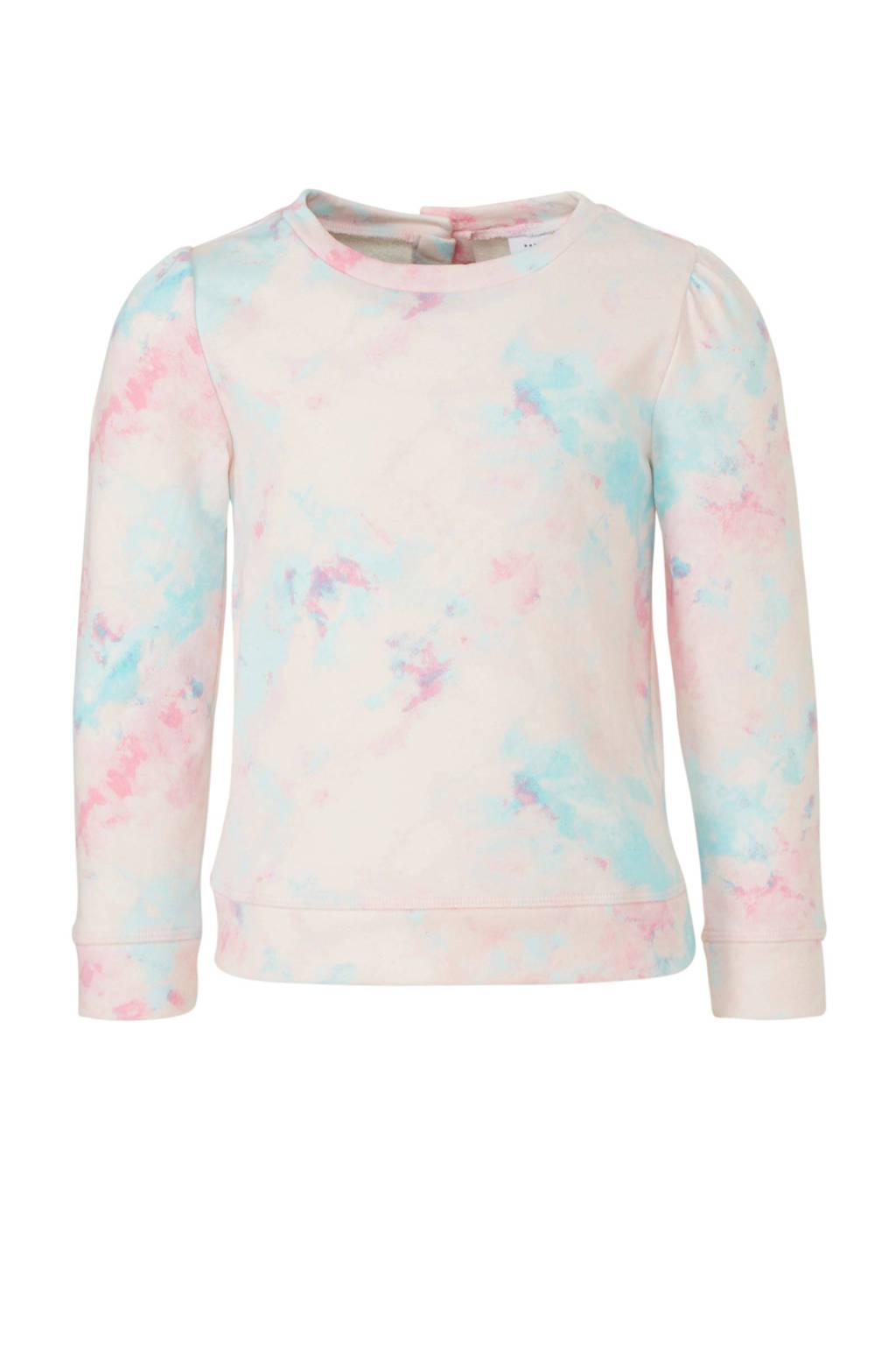 GAP baby tie-dye sweater lichtroze/blauw/roze, Lichtroze/blauw/roze